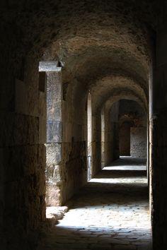 Pasillo de acceso a la Arena, Anfiteatro romano de Itálica. Santiponce (Sevilla) #sevilla #anfiteatro #itálica #santiponce