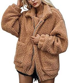 e4ad4ff5178 ZHENWEI Women s Fashion Faux Fur Coats Warm Winter Coats
