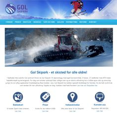 Gol Skipark og deres Idium Web+side Website, Design, Design Comics