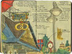 Poulsbo, WA sketch by Chandler O'Leary