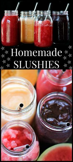 These homemade slushies are wonderful on long hot summer days and are full of minerals and electrolytes to keep you hydrated!
