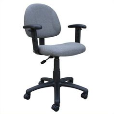Free 2-day shipping. Buy Scranton & Co Posture Office Chair with Adjustable Arms in Gray at Walmart.com Office Carpet, Mesh Office Chair, Office Desk, Grey Office, Executive Office Chairs, Chair Types, Ergonomic Chair, Desk Chair, Modern Chairs