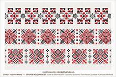 Semne Cusute: Romanian traditional motifs Loom Beading, Beading Patterns, Knitting Patterns, Embroidery Motifs, Folk Fashion, Moldova, Vector Pattern, Cross Stitch Patterns, Traditional