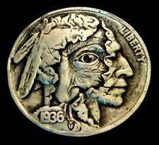 "Hobo Nickel ""The Hidden Truth"" Peekaboo Coin by Howard Thomas"