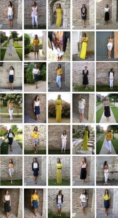 Fashion Challenge: 11 pieces of clothing, 35 different outfits -Love this!