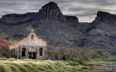 Texas Parks and Wildlife Tami Delk Longino This is the El Contrabando movie set located at Big Bend Ranch State Park in west Texas: www.tpwd.state.tx.us/spdest/findadest/parks/big_bend_ranch/