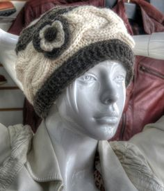 Thick 100% Wool Hats—Fun, Practical, and Made by Hand All hats are knitted by hand with bulky, stretchy cable stitching and fleece-lined for comfort. One adult size fits all.