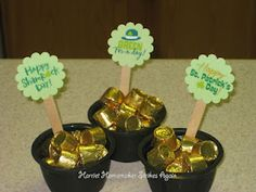 Pots of Gold for St. Patrick's Day favors