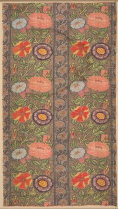 Floral silk on a golden ground, Iran, about 1650. Silk, silver-metal thread; samit; 50.10 x 27.50 cm. The Cleveland Museum of Art