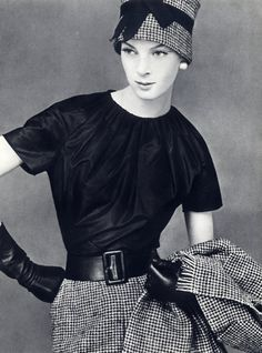 Christian Dior - Yves Saint-Laurent  Octobre 1959, Blouse, Photo Leombruno-Bodi, Lajoinie (fabric)