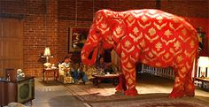 Banksy's painted elephant