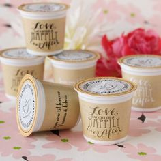 Personalized K-Cup Keurig Coffee Favors for Engagement, Bridal shower, Rehearsal dinner, Wedding (($))