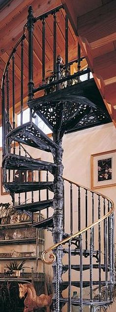 For the library - The Iron Shop Victorian Spiral Staircase