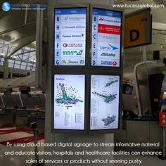 By using #cloud based #digitalsignage to stream #informative material and #educate visitors, #hospitals and #healthcare facilities can enhance sales of #services or #products without seeming pushy.  ‪#‎TucanaGlobalTechnology‬ ‪#‎Manufacturer‬ #HongKong