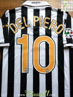 d309069e8 Relive Alessandro Del Piero s Serie A season with this vintage Nike Juventus  home football shirt. Classic11 Football Shirts