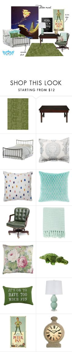 """""""Peter Pan dorm room design"""" by this-is-cat ❤ liked on Polyvore featuring interior, interiors, interior design, home, home decor, interior decorating, Momeni, Hillsdale Furniture, Pottery Barn and Surya"""