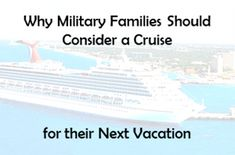 Why military families should consider a cruise for their next vacation... free childcare, military discounts, no cooking meals, and actually getting time to yourself. Check out our latest trip and why we love cruising.