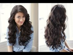 Hair Tutorial. Love curling my hair like this! The tapered curling rod is an amazing tool