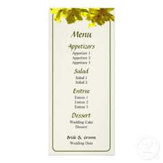 Backlit Yellow Orchids Wedding Menu by Susan Savad -- Orchid wedding menu that you can customize yourself. #wedding #weddingmenu #customize #flower #flowers #tropical #orchid #orchids   $0.55  per card   BULK PRICING AVAILABLE!