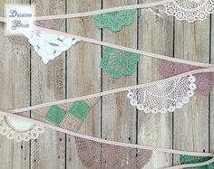 Handmade Crochet Bunting Garland Vintage by DaisiesBlueShop