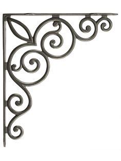 "Decorative Vines Cast Iron Shelf Bracket - 10 1/8"" x 11 3/4""   House of Antique Hardware"