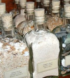 beach sand bottle collection