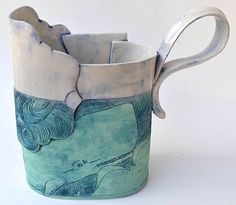 Whale Pitcher - Linda Fahey (porcelain)