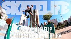 Varial Heelflip | TUTORIAL #SKATELIFE | Wellington de Oliveira - http://DAILYSKATETUBE.COM/varial-heelflip-tutorial-skatelife-wellington-de-oliveira/ - Varial Heelflip | TUTORIAL #SKATELIFE | Wellington de Oliveira Nesse tutorial, Wellington de Oliveira dá as dicas do Varial Heelflip, uma manobra boa para você aprender no solo, colocar na linha e depois descer escadas e barrancos.  O vídeo foi gravado na Praça Roosevelt, centro de São Paulo. Enco - heelflip, oliveira, sk