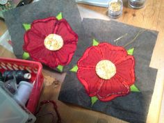 Machine-embroidered roses for back and front of chasuble