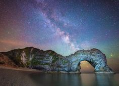 The Milky Way Above Durdle Door, #England. #sky #travel  Photo by Stephen Banks