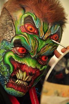 amazing monster face paint