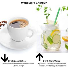 Coffee can offer health benefits & some caffeine can be beneficial, but if you have too much it actually drains your energy instead of boosting it. #energyboosters #foodsforenergy#coffeedrinks #water #fruitinfusedwater#energyboosters #foodsthatboostenergy#middayslump #insomnia#ineedmoreenergy #tiredmomma#howtogetmoreenergy#naturalenergyboosters #boostmetabolism#healthydrinks #hydration