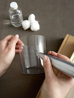 DIY glass engraving - don't know if I dare to try it...