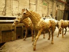 Cast iron ponies at Hargreaves Foundry, Halifax - to be sited in Blaenavon, South Wales- Sally Matthews