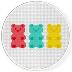 Charts Club Members Only: Gummy Bears Cross Stitch Pattern