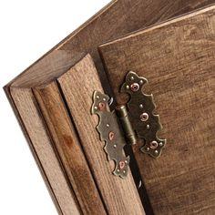 ... Dark presentation folder wooden A4 ring folder of beech wood
