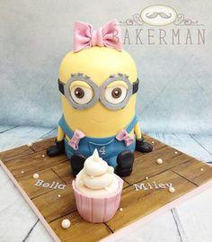 Minion cake for girl
