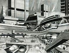 Klaus Bürgle: Future City by veloopity, via Flickr