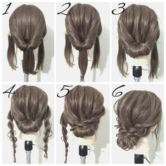 Everyday Casual #Lowbun With Braids Step By Step #summerupdo2018 #summerhairstyle