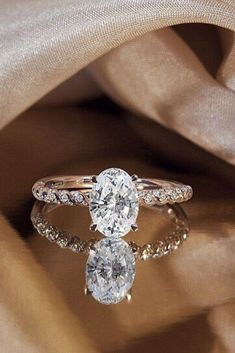 Engagement Rings : Picture Description 24 Oval Engagement Rings That Every Girl Dreams ❤️ oval engagement rings unique band with diamonds rose gold ❤️ Beautiful Wedding Rings, Wedding Rings Rose Gold, Beautiful Engagement Rings, Bridal Rings, Cheap Engagement Rings, Princess Cut Engagement Rings, Rose Gold Engagement Ring, Oval Engagement, Ring Verlobung