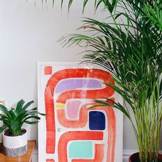 Christiana Eaton: Happy set up in the abode  The #100dayproject has paved the way for new project/style ideas and I am ok with that! Composition No.40 Acrylic, foam sheet, cut outs, oil pastel & foil on cartridge #design #drawing #abstractpainting #art #print #markmaking #collage #colour #shape #mixedmedia #texture #carveouttimeforart #doitfortheprocess #ss17 #plant #urbanjunglebloggers  #100daysofcolourcompositions