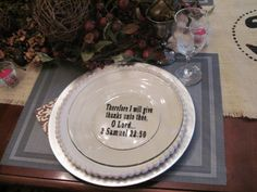Tea Parties & Baseball Games: Fall Table Setting // putting quotes or verses at a table setting