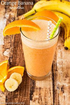 Orange Banana Smoothie by Deliciously Sprinkled