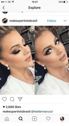 Fall bridal makeup natural ideas for 2019 - Prom Makeup For Brown Eyes Glam Makeup, Beauty Makeup, Eye Makeup, Hair Makeup, Airbrush Makeup, Makeup Trends, Makeup Tips, Makeup Ideas, Makeup Hacks