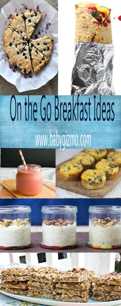 On the Go Breakfast Ideas are great ways to make sure your family eats a healthy, balanced breakfast even when you're short on time! #Breakfast #BabyGizmo