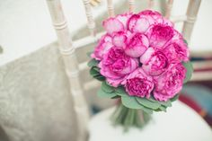 Pink French rose wedding bouquet, Yves Piaget rose