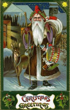 Saint Nicholas intent on the job at hand.  Repinned by www.mygrowingtraditions