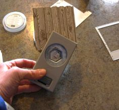 Use the Hexagon Punch and Hardwood Stamp to make a picket fence for Punch Art