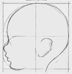 How to Draw a Baby's Face / Head with Step by Step Drawing