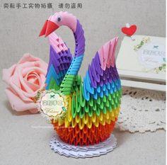 19 Best 3d Origami Rainbow Swan Images 3d Origami Tutorial Swan